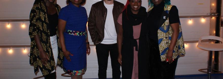 De gauche à droite : Leslie Mbimbi, Mireille Mpere, Romain Chauvet, Laeticia Mogène, Rose Ngo